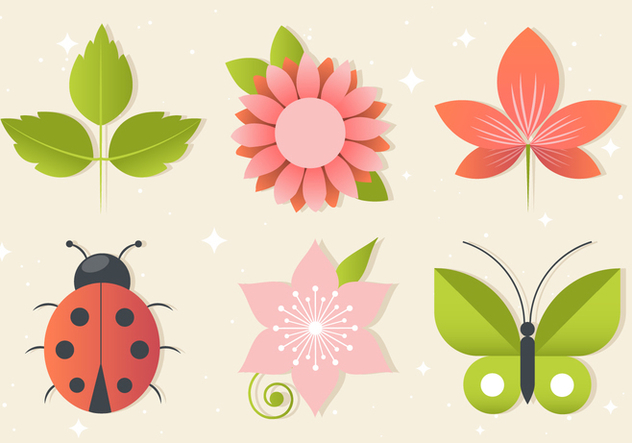 Free Floral Greeting Vector Elements - vector gratuit #440037