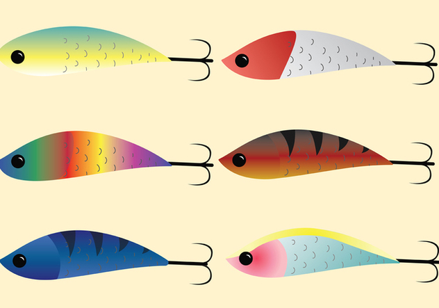 Fishing Tackle Vector Pack - бесплатный vector #440047
