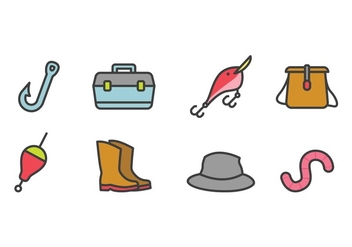 Fishing Icon Set - vector gratuit #440057