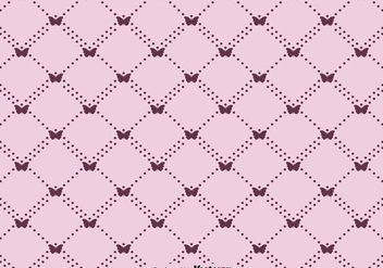 Vector Cute Butterfly Seamless Pattern - Free vector #440067