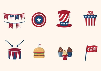 Flat USA Independence Day Vectors - Free vector #440097