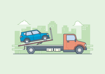 Free Towing Truck Illustration - бесплатный vector #440127