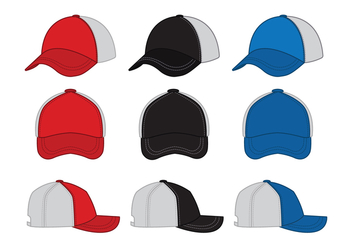 Trucker hat Vector icon - бесплатный vector #440137