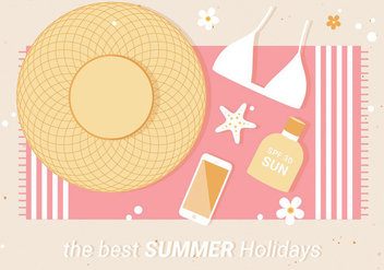 Free Flat Design Vector Summer Illustration - Kostenloses vector #440177