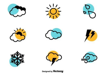Weather Icons - Vector Set - Free vector #440187