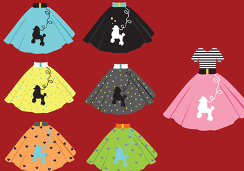 Poodle Skirt Vector Pack - бесплатный vector #440207