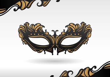 Masquerade Black Mask Free Vector - бесплатный vector #440217