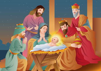 Christmas Religious Happy Epiphany - Free vector #440227