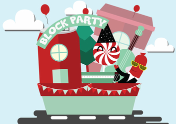 Block Party Vector Art - vector #440247 gratis