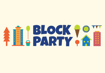 Block party vector illustration - vector gratuit #440267