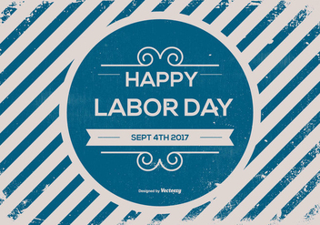 Old Retro Labor Day Background - vector gratuit #440327