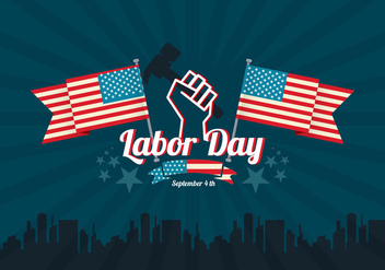 Labor Day Vector Background - Free vector #440407
