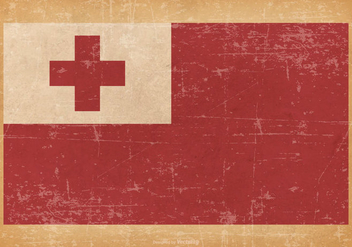 Old Grunge Flag of Tonga - бесплатный vector #440417