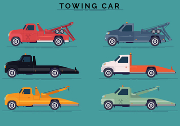 Side View Towing Car Vector Collections - vector gratuit #440447