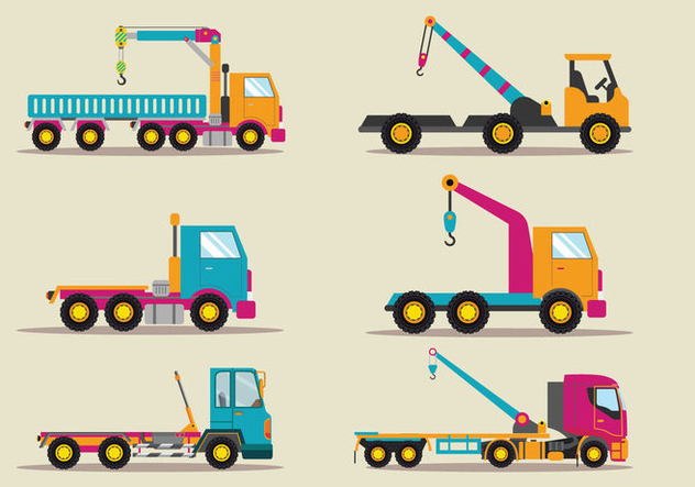 Towing Truck Service Vector Flat Illustration - Kostenloses vector #440457