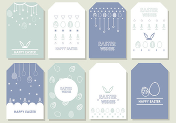 Easter Gift Tag - Free vector #440537