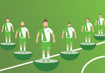 Subbuteo Players Vectors - бесплатный vector #440547