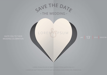 Save The Date, Wedding Invitation Template - бесплатный vector #440577