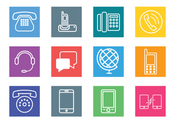 Communication Vector Icon - vector gratuit #440607