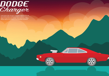 Dodge Charger Vector Background - vector #440637 gratis