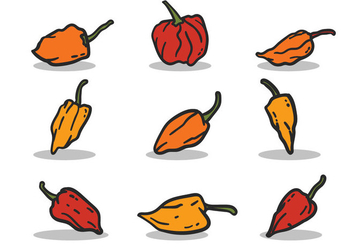 Habanero vector set - бесплатный vector #440707