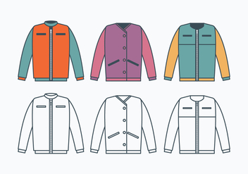 Windbreaker Jacket Collection - Free vector #440777