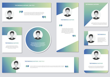 Website Testimonials Box Template Vector - Free vector #440867