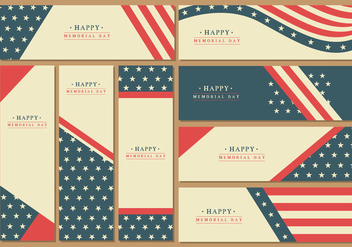Memorial Day Banner Vectors - vector #440887 gratis