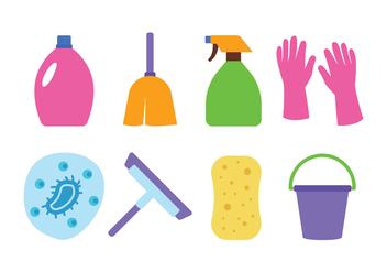 Cleaning Icon Set - vector #440897 gratis