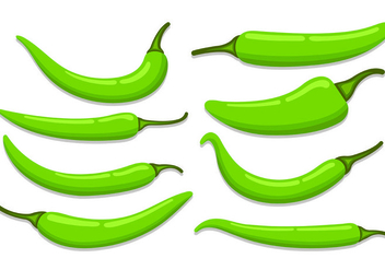 Set Of Chili Vectors - Free vector #441047