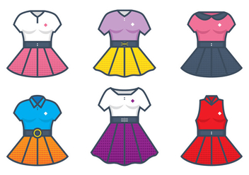 Poodle Skirt Illustration - Free vector #441057