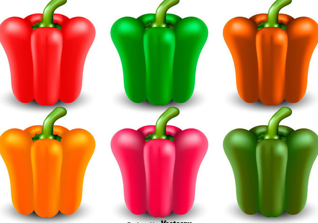 Vector Set Of Pepper Icon - Free vector #441087