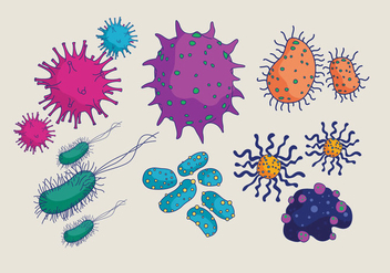Bacterias and Mold Vector - vector gratuit #441117