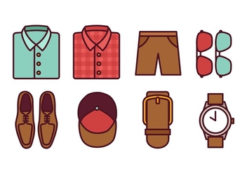 Men Fashion Icon Pack - vector #441197 gratis