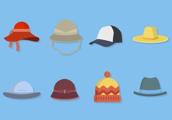 Flat Hat Collections - Free vector #441217