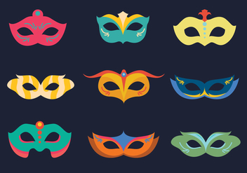 Carnival Colorful Mask - vector #441257 gratis