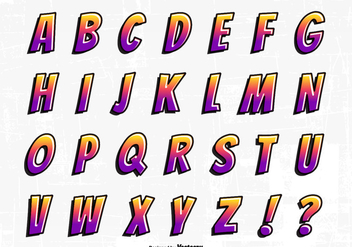 Cartoon Graffiti Font Alphabet Vector Set - Free vector #441327