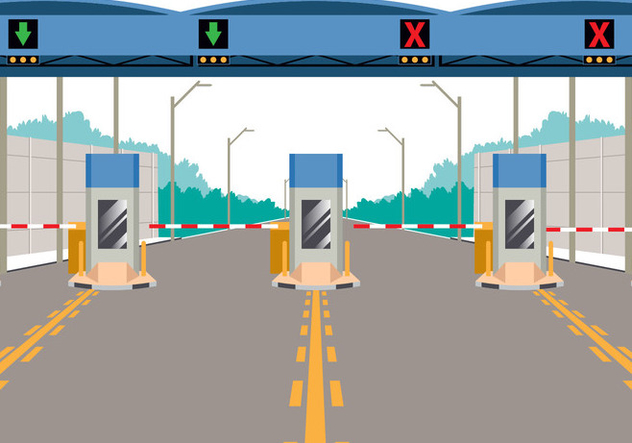 Toll Booth On Highway - Free vector #441347