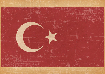 Grunge Flag of Turkey - vector gratuit #441367