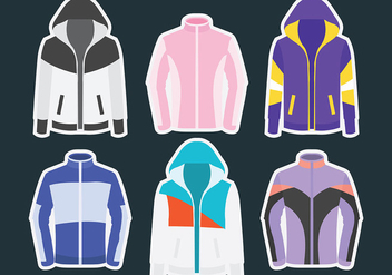 Windbreaker Vector Icons - vector #441407 gratis