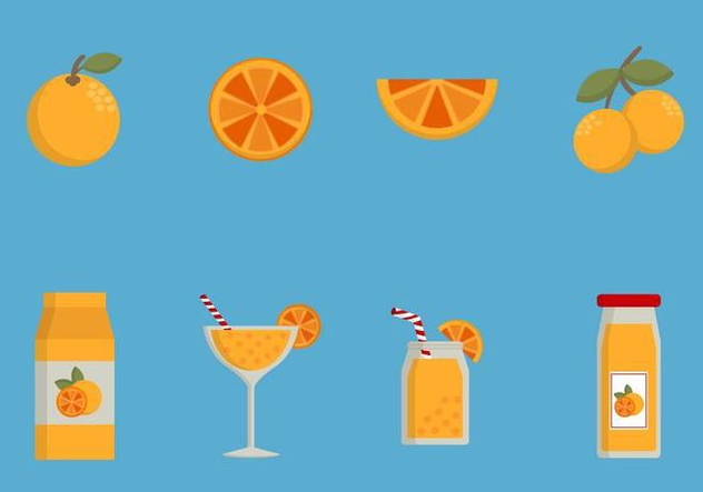 Flat Orange Vectors - vector gratuit #441557