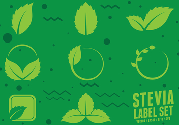 Stevia Natural Sweetener Icons - Free vector #441567