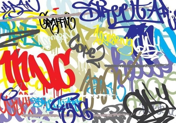 Graffiti Abstract Background - Free vector #441577