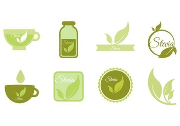 Free Stevia Icons and Badge Vector - Free vector #441617