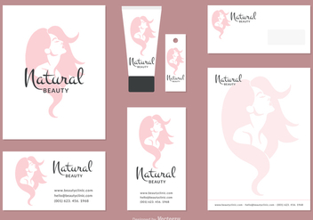 Woman Face Silhouette Corporate Identity Vector Set - бесплатный vector #441647