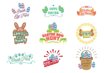Easter Egg Hunt Vector - Free vector #441657