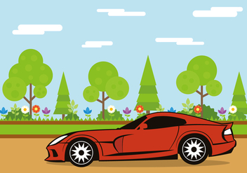 Modern Muscle Car - Free vector #441667