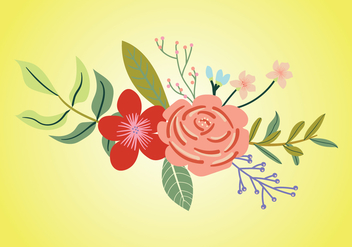 Rhododendron Bouquet Vector - Free vector #441687