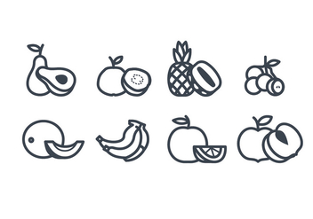 Fruits vector icon - vector gratuit #441717