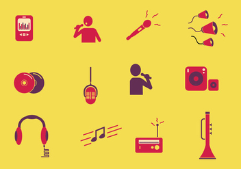Musical Icon In color - vector #441807 gratis